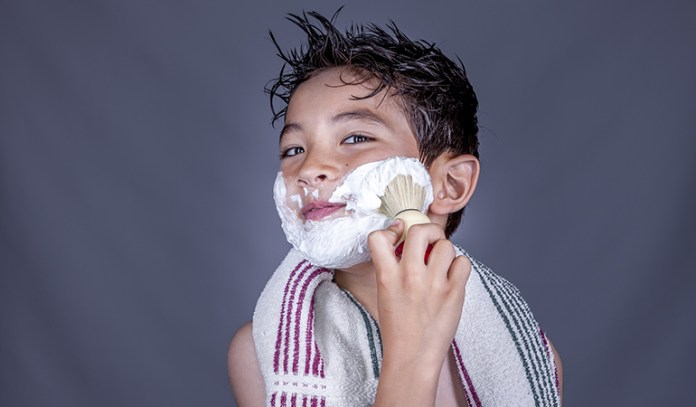 Apply the shaving cream before re-shaving