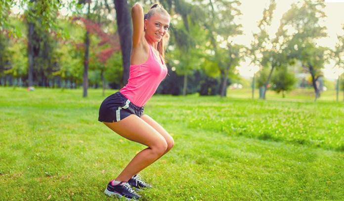 basic squat workout for a toned butt