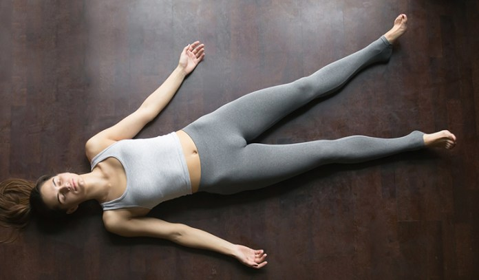 Corpse Pose Encourages Meditation To Stop Hairfall