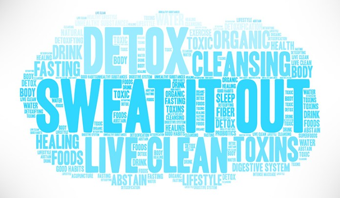 Water flushes out toxins in sweat and urine