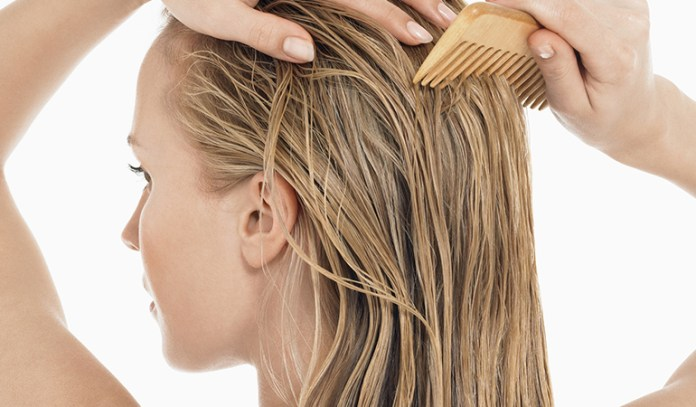 Coconut oil can help promote healthy hair