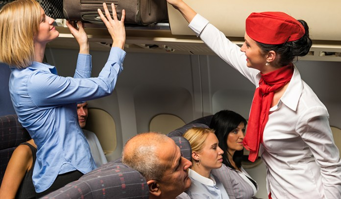 Have enough leg room by stowing away your cabin baggage