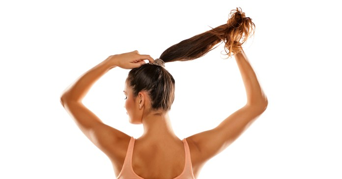 Ponytails put stress on the scalp causing hair loss