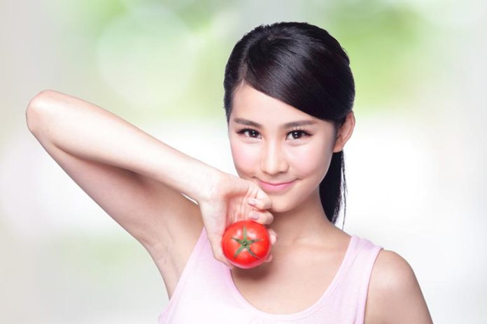 Tomatoes treat and reduce UV-induced damage to the skin