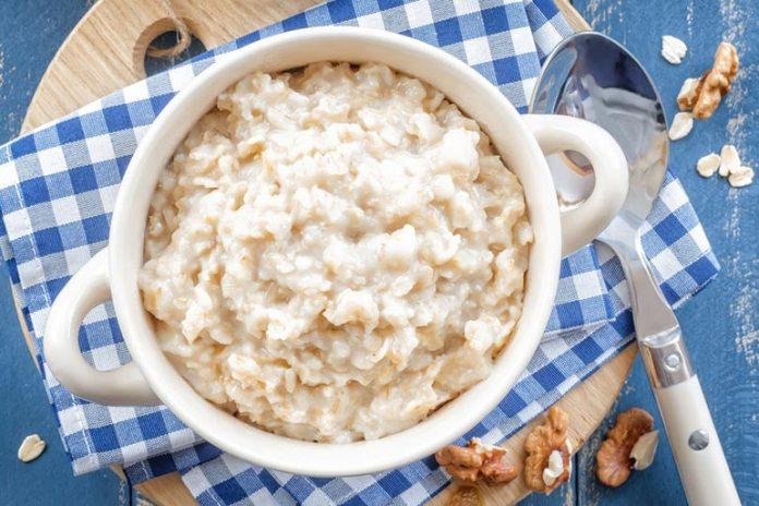 Oatmeal is filling as it is high in fiber