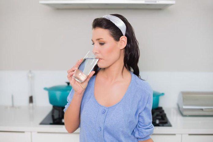 Sip water before mealtime