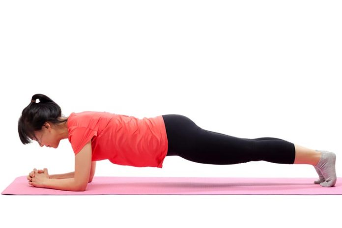 The up and down plank helps strengthen arms and chest