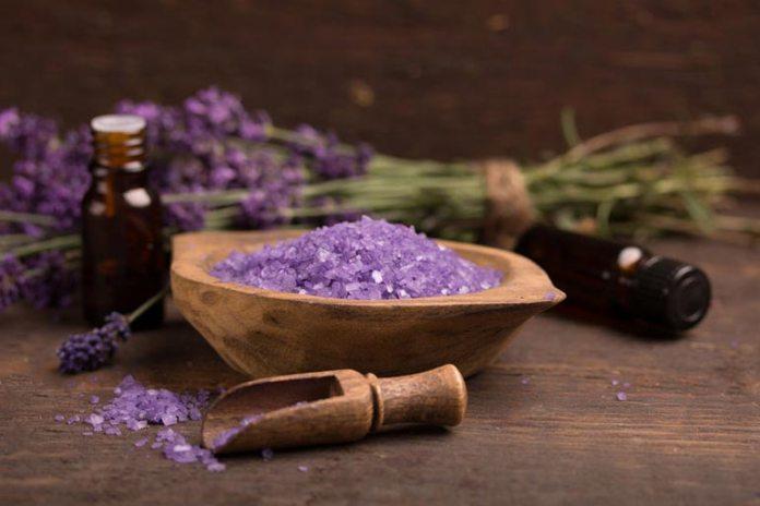 Homemade lemon lavender scrub to exfoliate your skin