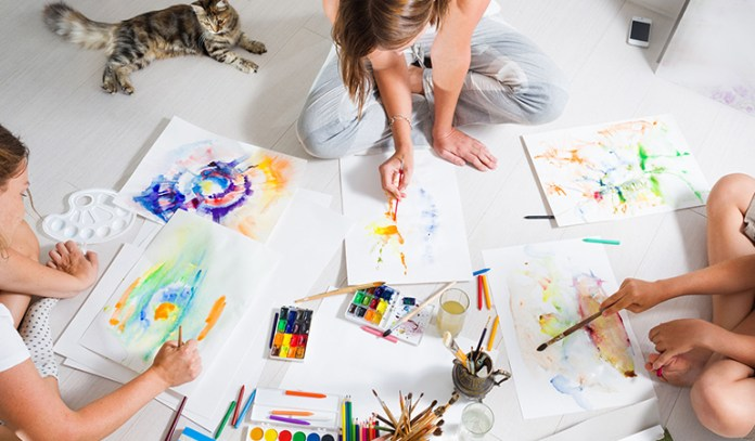 Painting and drawing helps boost one's creativity.