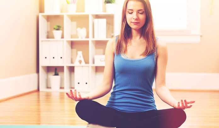 Meditation helps clear the mind