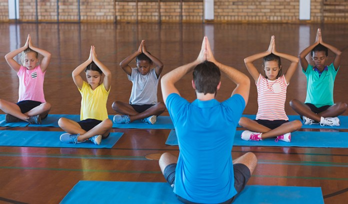 A Game Of Musical Mats Can Help Kids Learn Yoga
