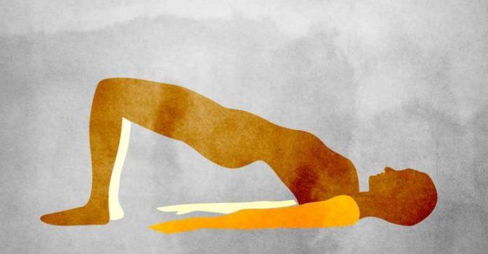 setu-bandha-asana: yoga poses for sciatica pain relief