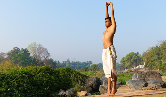 Tadasana improves posture and provides balance