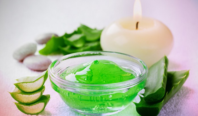 Aloe Vera gel softens the hands miraculously.