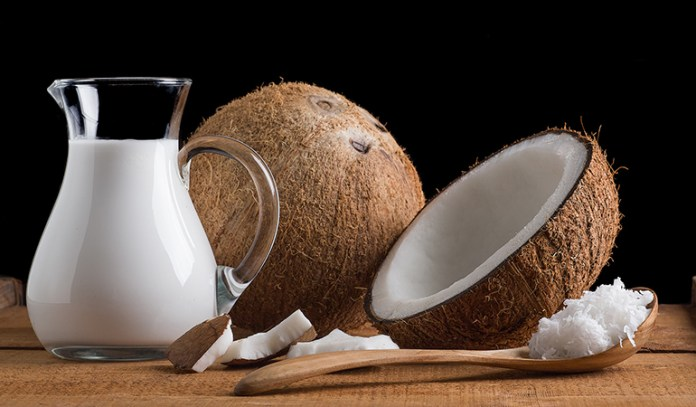 coconut milk for dull, dry or frizzy hair