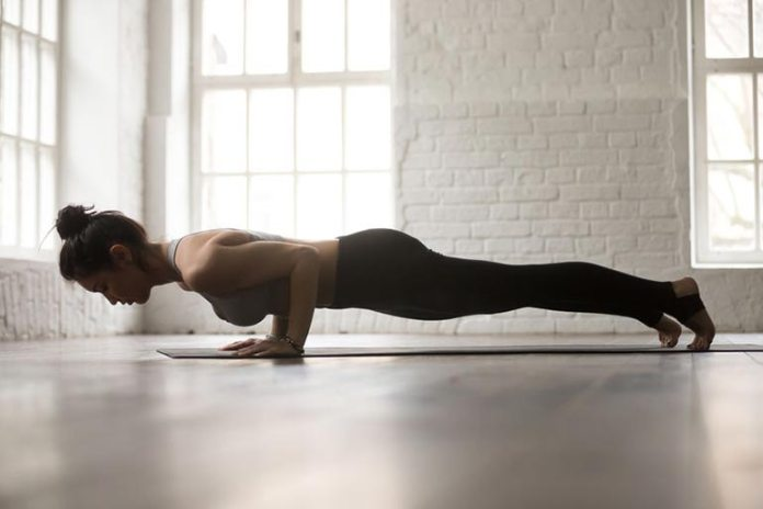 Four-Limbed Staff Pose Improves Stability And Core Strength