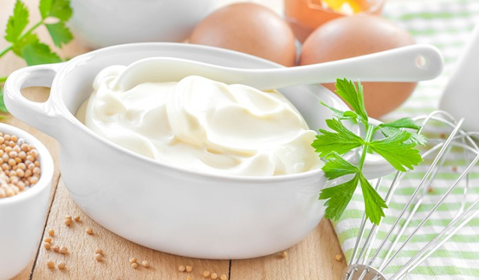 mayonnaise for dull, dry or frizzy hair