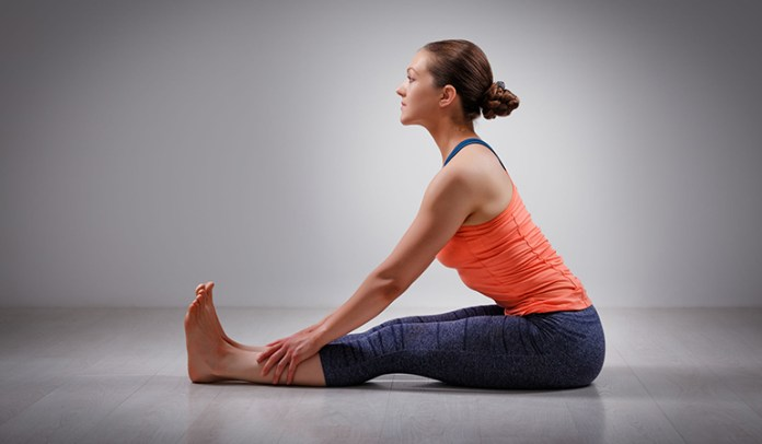 The seated forward bend looks easy but can <!-- WP QUADS Content Ad Plugin v. 2.0.27 -- data-recalc-dims=