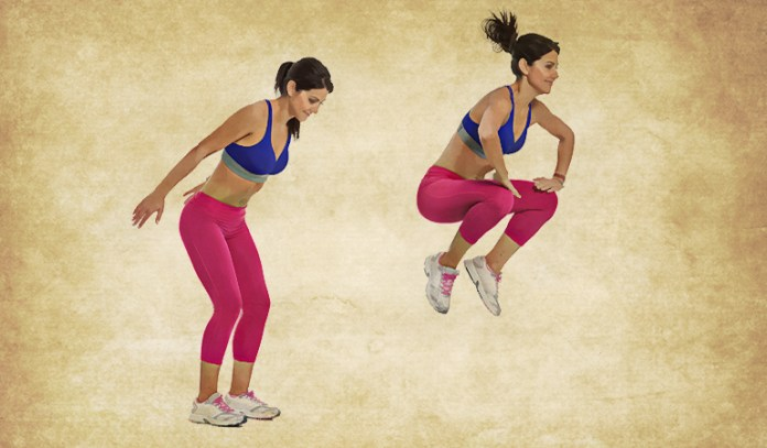Tuck Jump Is An Easy To Perform Standing Ab Workout