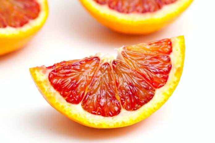 Blood oranges are low in calories