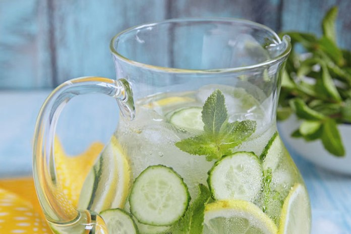 Cucumber, lemon, and mint together aid weight loss and alleviate pain