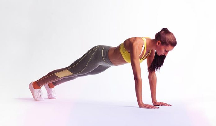 Push-up is a very effective workout for the arms and the back