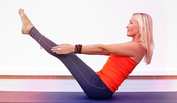 Boat pose strengthens your core and helps you lose weight