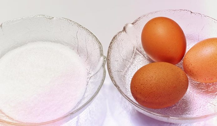 Egg white sticks to the hair and skin but is easy to remove from the skin once it dries)