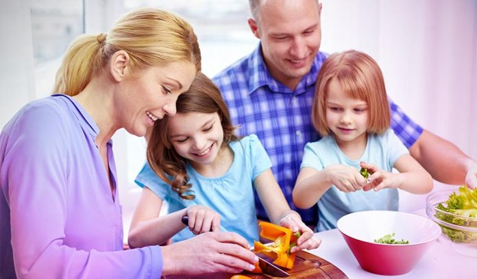 Involve your kids in the kitchen.