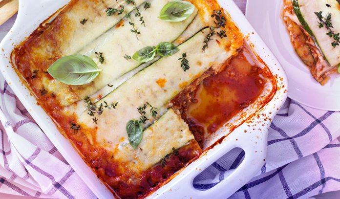 Thin Strips Of Zucchini Make Great Lasagna