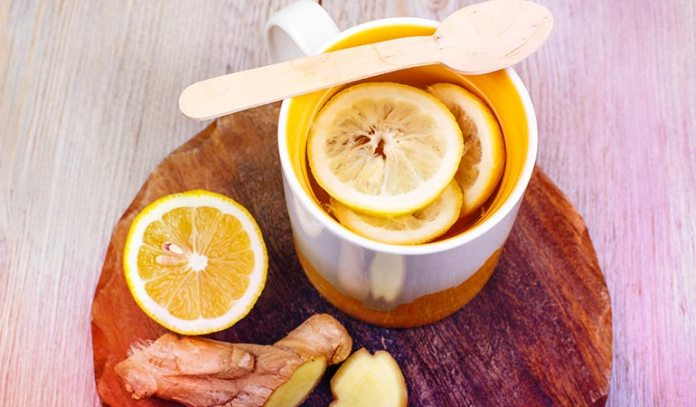 Drink ginger tea with lemon for relief from asthma.