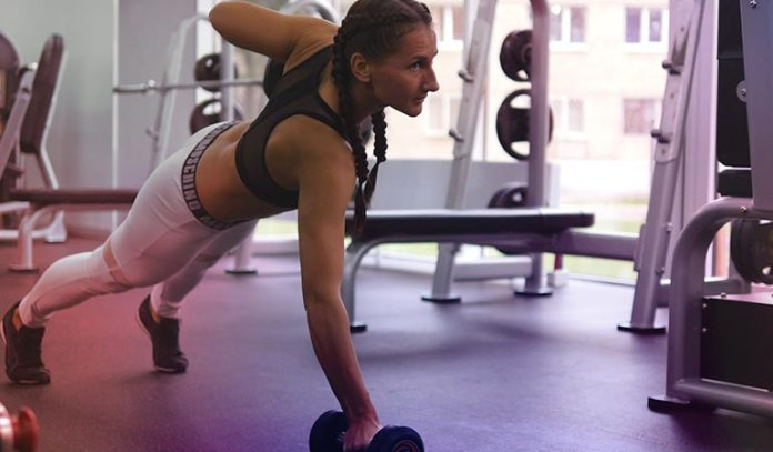 (Dumbbell rows target the back muscles and destroy back fat completely.