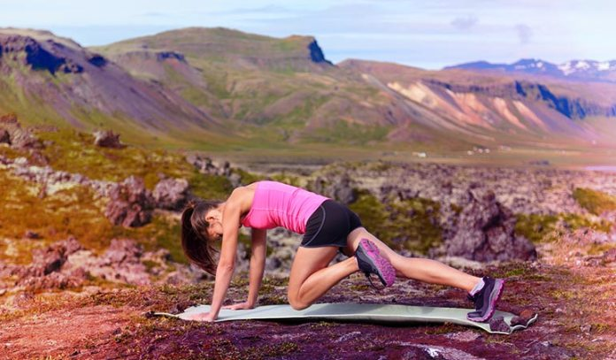 The more you practise the mountain climber, the easier it becomes