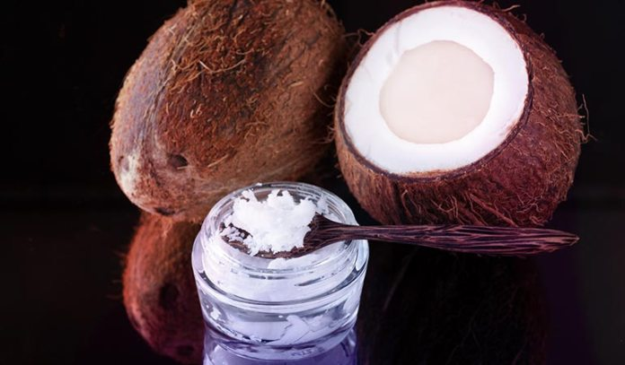 blend of coconut meat puree and coconut oil