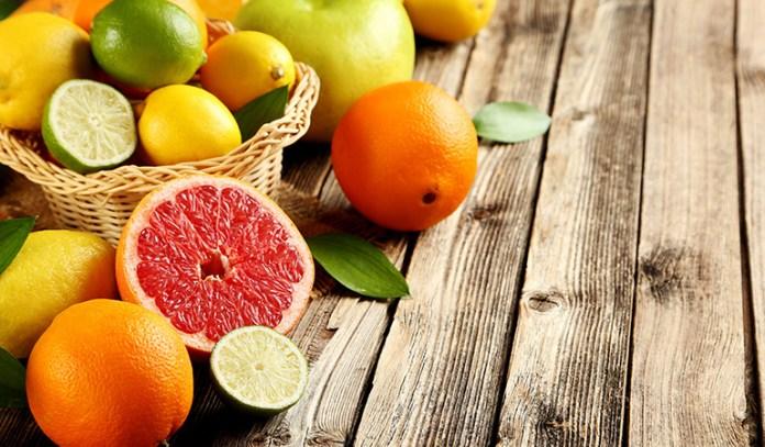 Citrus fruits contain a lot of vitamin c