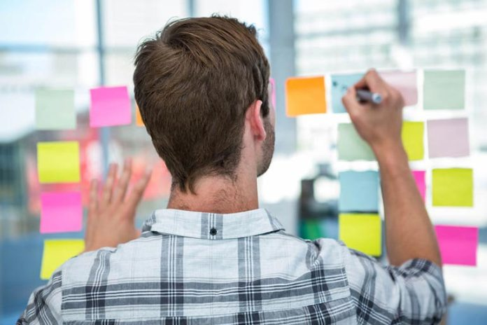 Post-its can help you organize better.