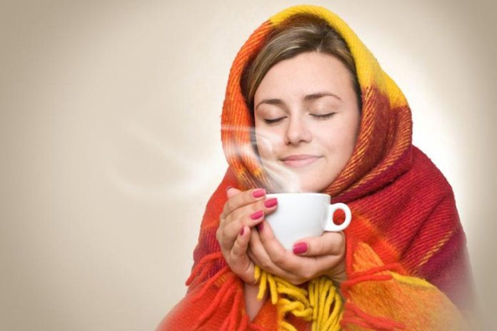 Drinking warm liquids will soothe both the nasal and the throat passages