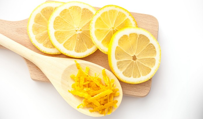 Lemon Zest In Water Can Treat Acid Reflux