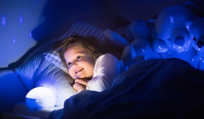 Install a calming nightlight in your child's room to reassure your child of his familiar surroundings.