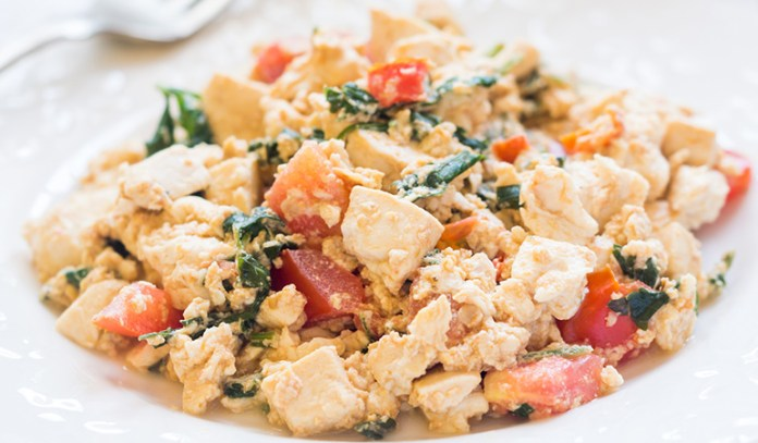 Tofu can be scrambled and made into a lovely breakfast