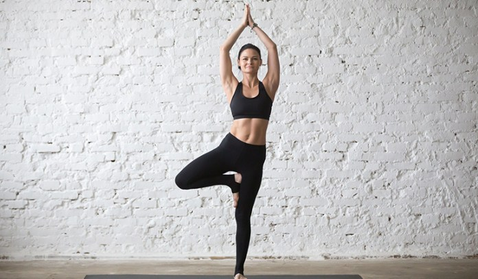 The tree pose improves your confidence and self-esteem