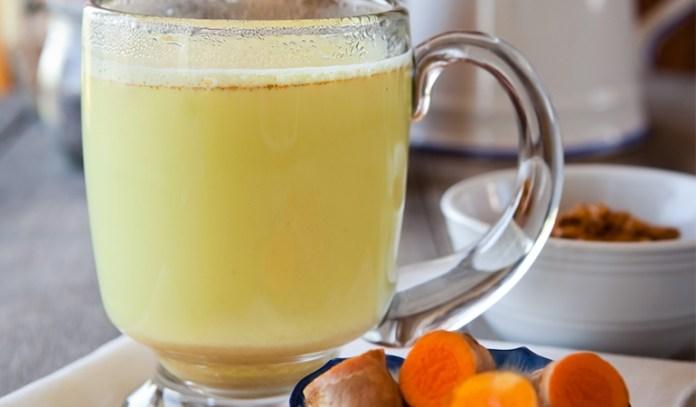 Turmeric with lemon juice.