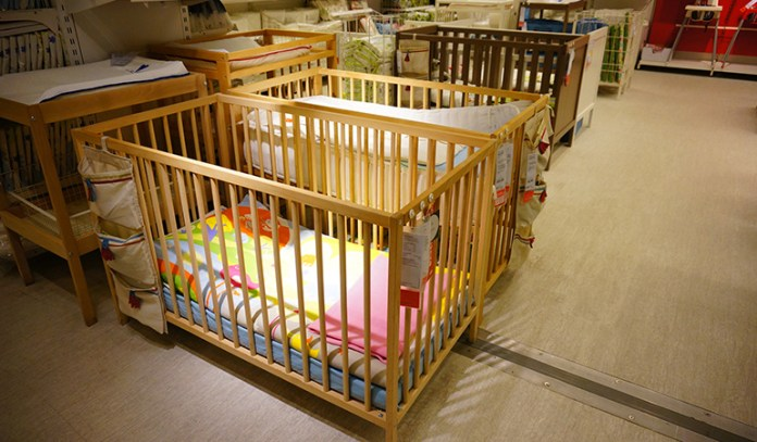 Babies need to be put to sleep in beds designed for their safety