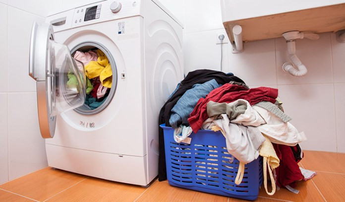 Wet laundry left outside provides the perfect atmosphere for germ growth