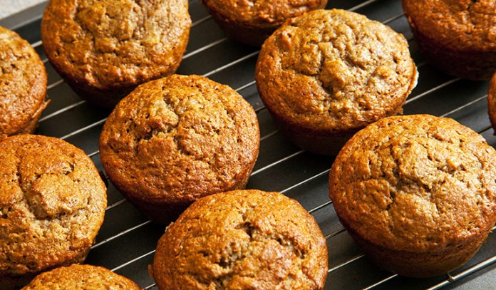 Bran muffins are tasty because they contain a lot of sugar