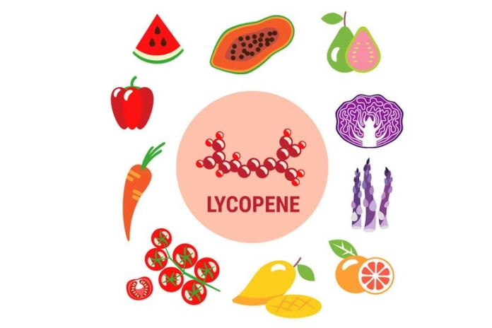 Red produce helps give you lycopene