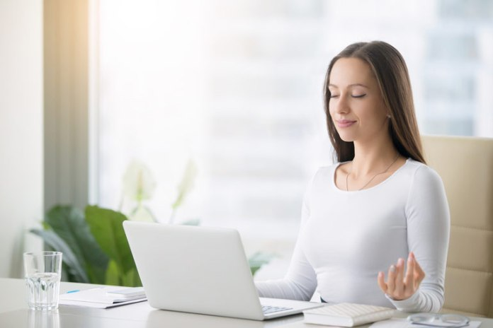 Try Deep Breathing Exercises At Your Desk To Increase Oxygen Supply To Your Brain And Calm You Down, Helping You De-Stress