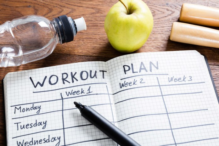 set a goal and plan the workout