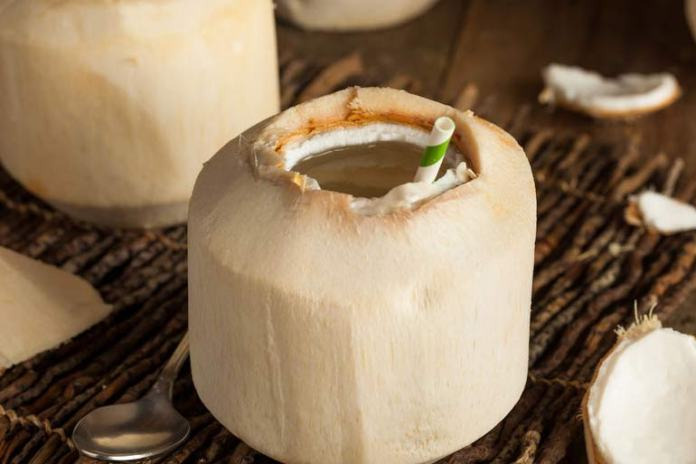 Tender coconut water is refreshing with no added sugars or fats