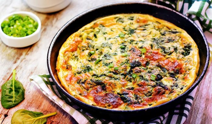 Add Chopped Greens To Eggs While Cooking Them
